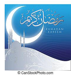 Abstrakte Ramadan-Kareem-Feier