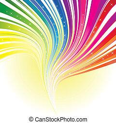 Abstrakte Regenbogenfarbe mit Sternen