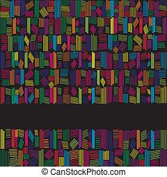Abstrakte Regenbogenfarben auf schwarzem Hintergrund