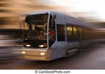 Abstrakte Straßenbahn.