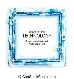 Abstrakte Technologie Frame Backgroun.