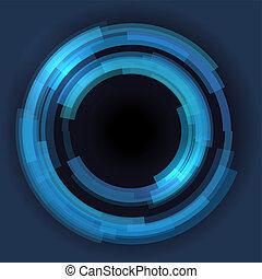 Abstrakte Technologie kreist den Vektorhintergrund.