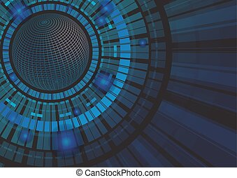 Abstrakte Technologiekonzept Hintergrund vektorgrafik.