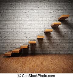 Abstrakte Treppen.