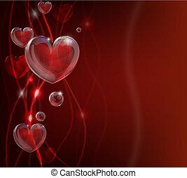 Abstrakte Valentinskarten rückt das Herz zurück