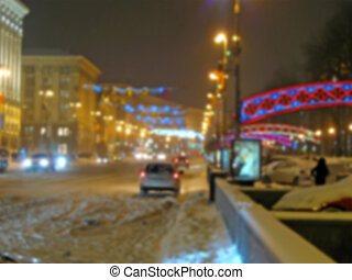 Abstrakte verschwommene Straßenbeleuchtung
