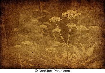 Abstrakte Waldblumen, alte Hintergründe
