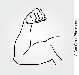 Abstrakte Zeichnung eines Mannes Arm.