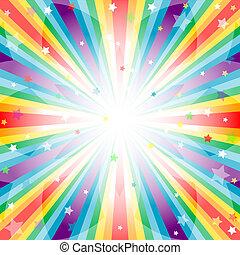 Abstrakten Regenbogen-Hintergrund mit Strahlen
