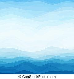 Abstrakter blauer wauiger Hintergrund