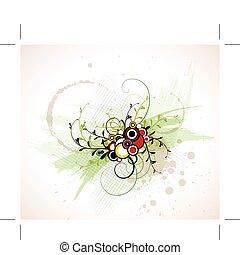 Abstrakter Blumen Hintergrund