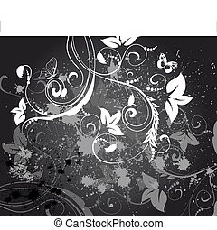 Abstrakter Blumenhintergrund Grunge
