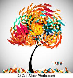 Abstrakter farbenfroher Baum