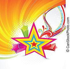 Abstrakter farbenfroher Star Hintergrund