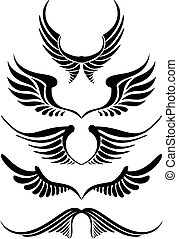 Abstrakter Flügel, Vektor