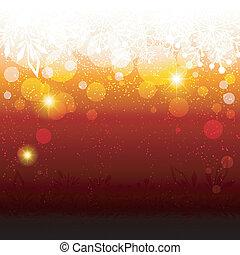 Abstrakter funkelnder roter Schneeflocke Hintergrund