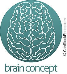 Abstrakter Gehirnkreis.
