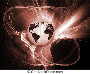 Abstrakter Globus.