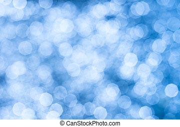 Abstrakter Hintergrund blauer glänzender Lichter