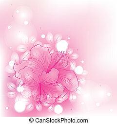 Abstrakter Hintergrund mit Blumen