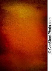 Abstrakter Hintergrund mit rot, braun und gelben Mustern auf orangefarbenem Hintergrund