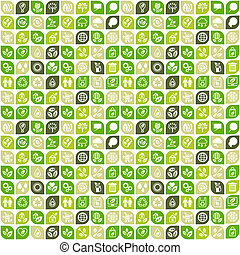 Abstrakter Hintergrund von Öko-Web-Ikonen.