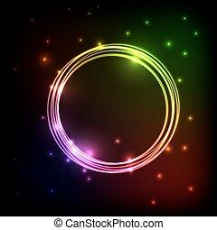 Abstrakter Plasma-Hintergrund mit bunten Kreisen.