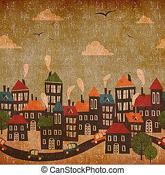 Abstrakter städtischer alter Hintergrund