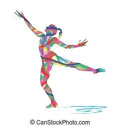 Abstrakter Tänzer.