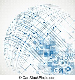 Abstrakter Technologie-Hintergrund. Vector