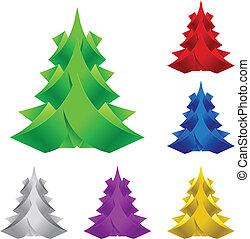 Abstrakter Weihnachtsbaum.