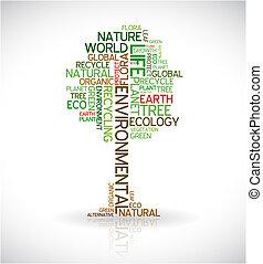Abstraktes Ökologieposter - Baum