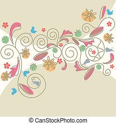 Abstraktes Blumenmuster