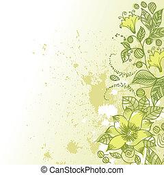 Abstraktes Blumenmuster Grunge