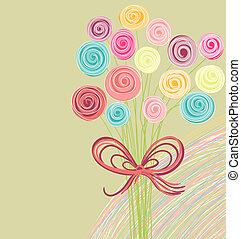 Abstraktes Blumenstrauß