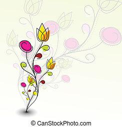 Abstraktes buntes Blumenmuster
