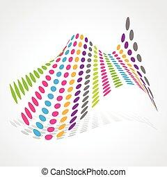 abstraktes design, künstlerisch