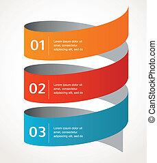 Abstraktes Design und Infografisches, Hintergrund, Vektor-Icon