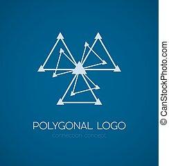 Abstraktes Dreiecks-Anschluss-Konzept-Logo