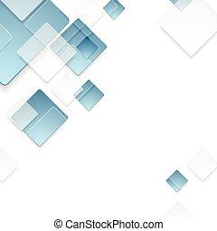 Abstraktes geometrisches Tech Blue Squares Design