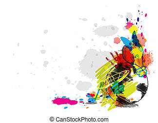 Abstraktes Kunstdesign.