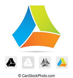 Abstraktes Logo, Designelement.