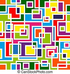 Abstraktes Mosaik, nahtloses Muster.