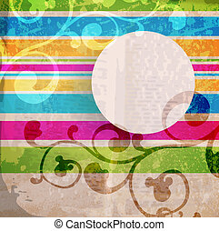 Abstraktes Muster für Design. Retro-Papier-Hintergrund