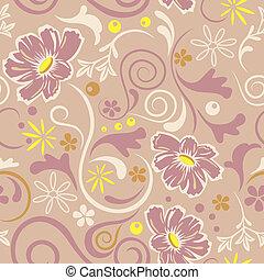 Abstraktes, nahtloses Blumenmuster