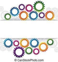 Abstraktes Webdesign mit Kopienraum