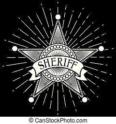 abzeichen, stern, sheriff
