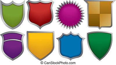 Acht Marken für Logos