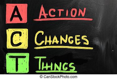 Action verändert die Dinge.