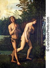 Adam und Eva aus dem Paradies
